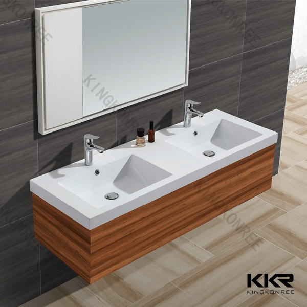 Solid Surface Bathroom Sink: Solid Surface Bathroom Sinks With Two Faucets