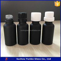Hot Sale Matte Eliquid 20ml Black Glass Bottle Factory