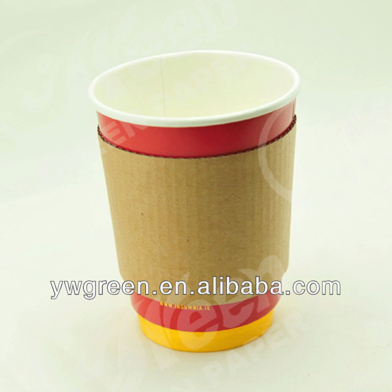 kraft paper cup sleeve cup wraps paper coffee cup sleeve
