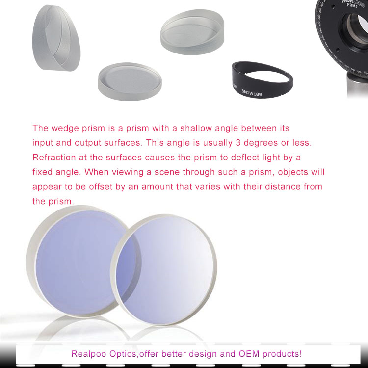 Optical Wedge Prism-glass material