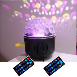 (TSA802) New 500 Patterns 6W Mp3 Led Magic Ball Light Sound Auto Remote Control
