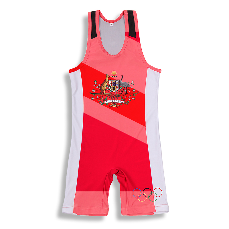 2017 China supply low cut infant sublimation custom wrestling singlet