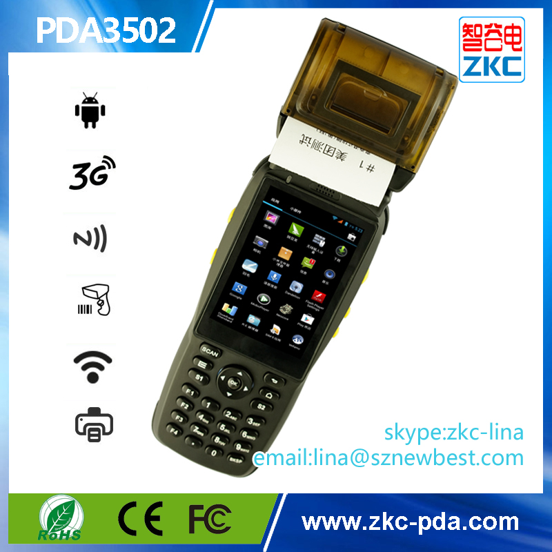 Android os handheld device with printer, rfid payment terminal for Public Transport System