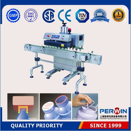 cups water filling induction sealer aluminum foil sealing machine