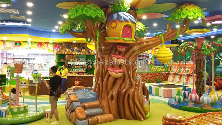 Outdoor tree of life fiberglass sculpture for theme park decoration