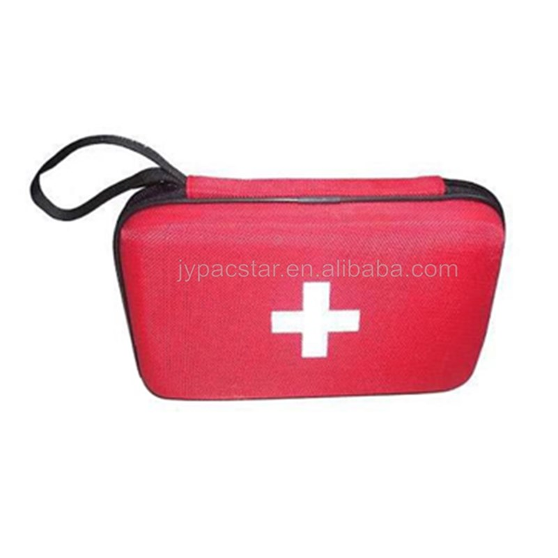 Emergency care red zipper case for easy carrying medical EVA bags