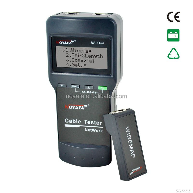NOYAFA NF-8108 LCD digital lcd network cable tester measuring network cable length