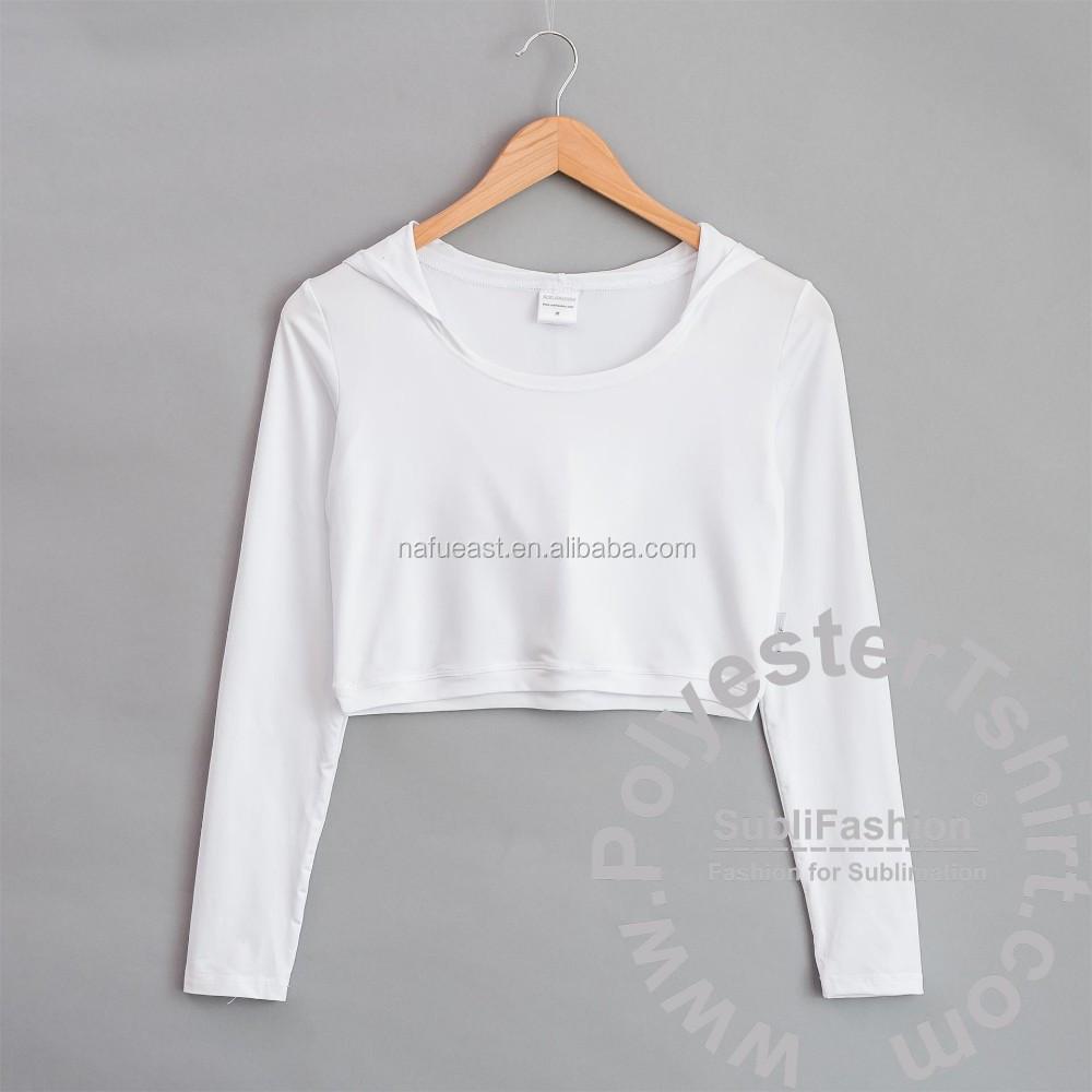 Women Fit Crop Top Hoodie Sublimation Print No Minimum Quantity 3