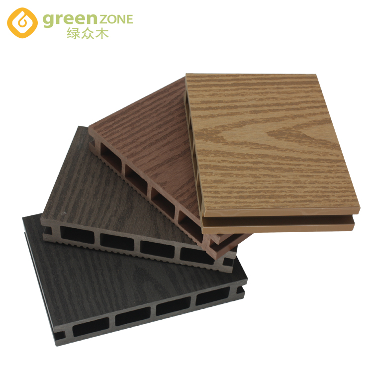 Hout kunststof composiet outdoor decking wpc decking floor uit China