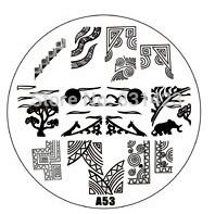 2015 new A Series A53 Nail Art Polish DIY Stamping Plates Image Templates Nail Stamp Stencil