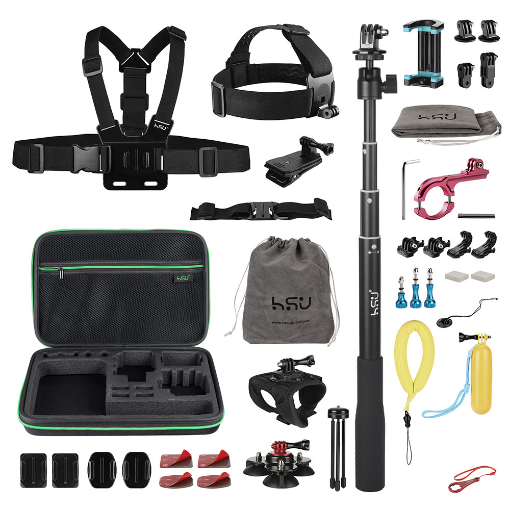 50-in-1 Set di Accessori per Go Pro Hero5/6/7 Action Cameras Kit di Accessori