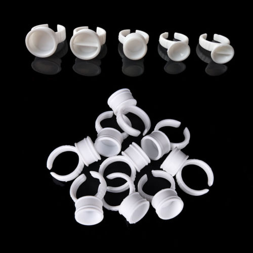 Hotsale! permanent makeup supplies White color disposable ring ink cup/ring ink holder