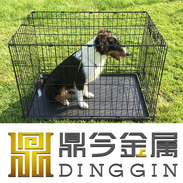 Welded mesh type large steel dog carriers