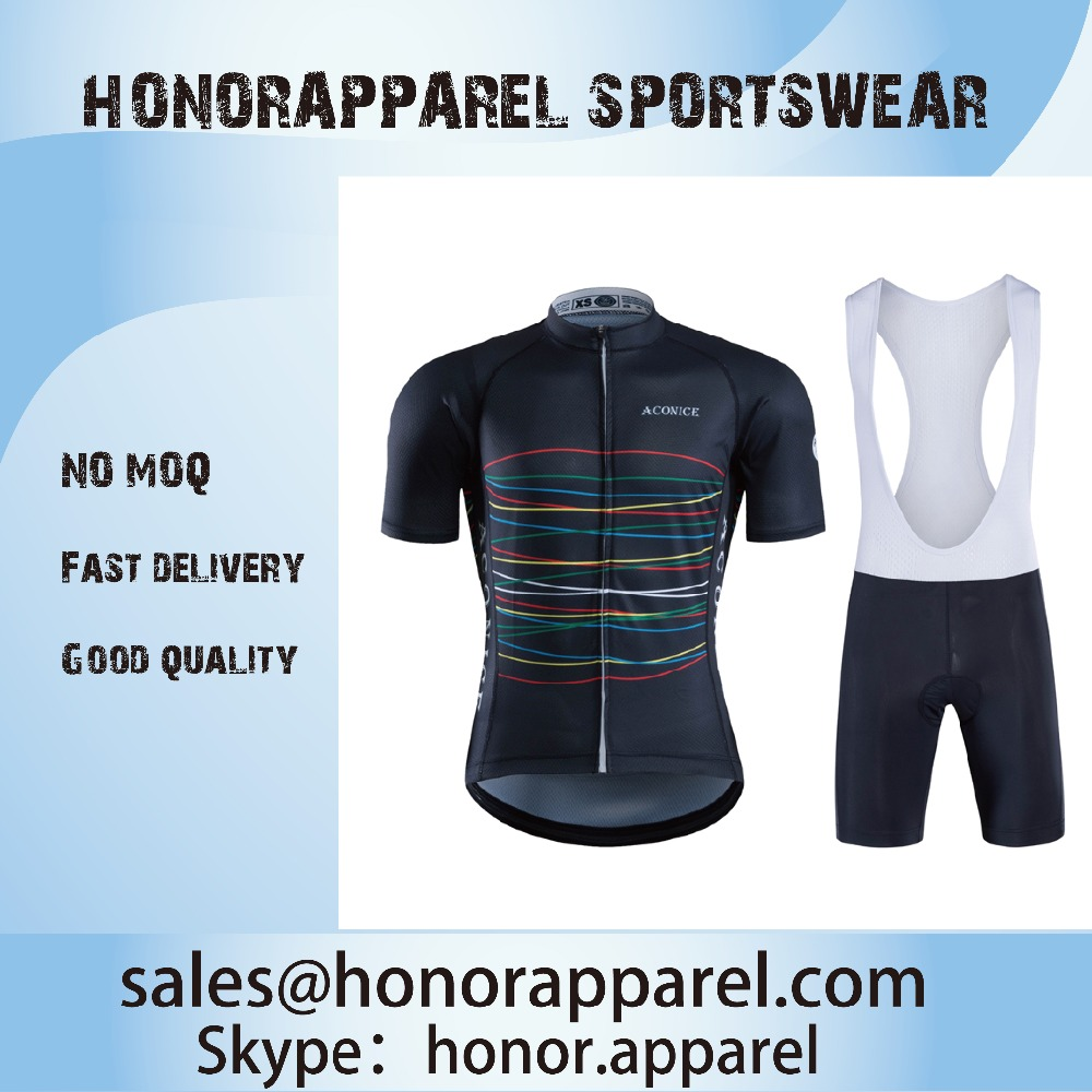 summer 4XS-4XL eco-friendly short sleeve cycling jersey and compression gel padded bib shorts cool breathable bicycle set
