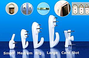 Seamless Invisible Strengthening Nail Wall Seamless Nails Photo Frame Photos of Wall Paintings Screw Hook Hardwall Picture Hangers (S(2.5*1.5cm)) Free Shipping (Pack of 10)