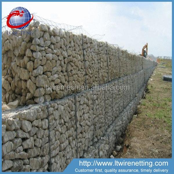 cesta de alambre de piedra muro de contencin de muro de inundacin para