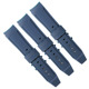 2 pieces stitching watch band 22mm silicone watchband