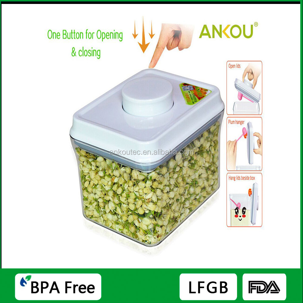 Factory Directly Supply Easy Open Microwaves And Dishwashers Safe Storage Container/Airtight BPA Cereal Boxes
