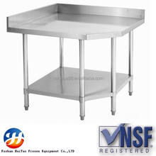 Discount working table backsplash type used stainless steel for restaurant and hotel