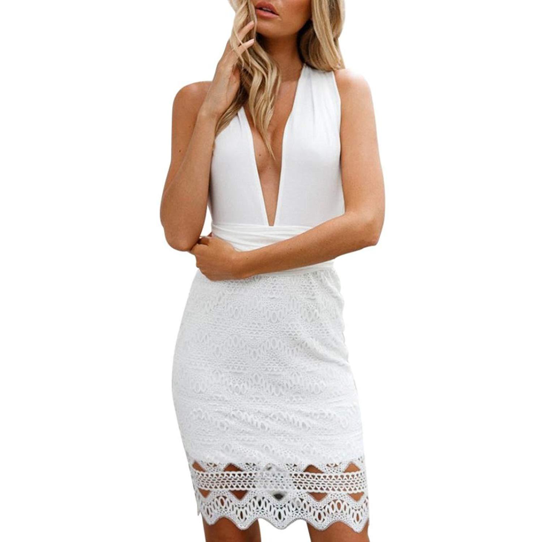 Womens Dresses,Sexy Lace Bodycon Cocktail Party Pencil Midi Dress Bandage Dresses