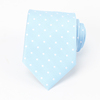 Fashion Men's Brand Polyester Blue Dot Necktie Manufacturer In China