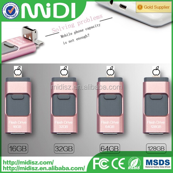Fashion style OTG usb flash drive with fast speed in good quality 4 gb