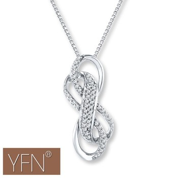 Sterling Silver Double Infinity Symbol Pendant Chain Necklace Buy