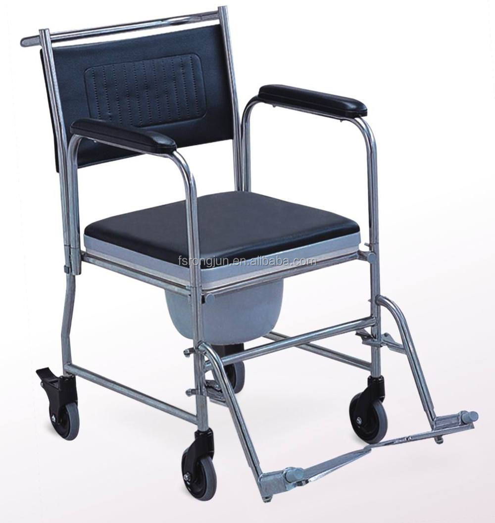 Stainless Steel Adult Potty Chair And Handicap Toilet