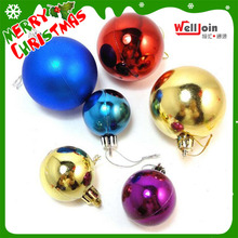 Hot Selling Iridescent Ornament Clear Balls christmas street Plastic Christmas Ball