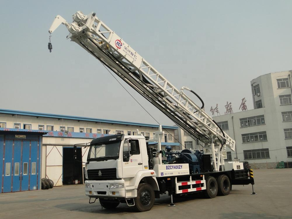 400m HOWO famous in Africa truck mounted water well drilling rig borehole drilling machine