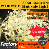 lower price and high quality ip65 outdoor string lights LED christmas light string warm white