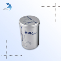 Custom logo printed round empty metal tin can, metal container