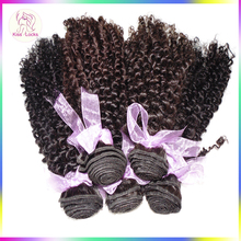 Thicker and Heavier Bundles Kinky Tight Curly Hair Weaving Virgin Peruvian Real Human Hair For Black Skin Girls 10A grade