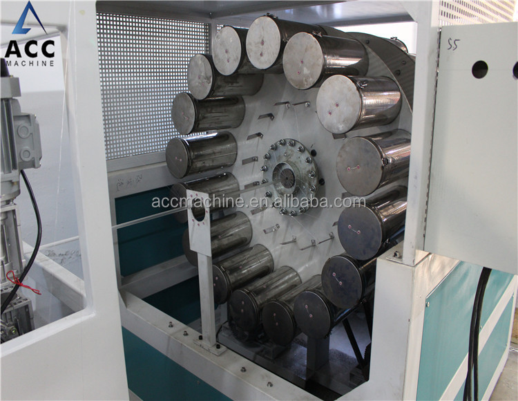 High Capacity PVC Twisted Reinforced Pipe Plastic Extrusion Line/PVC reinforced tube extruding machine