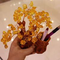 Wholesale natural rock citrine crystal tree