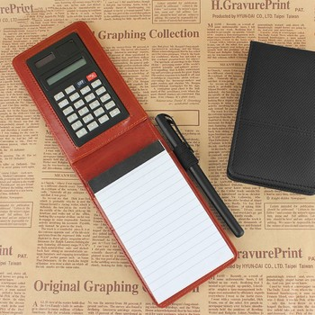 leather memo jotter,leather memo pad with calculator,leather memo pad