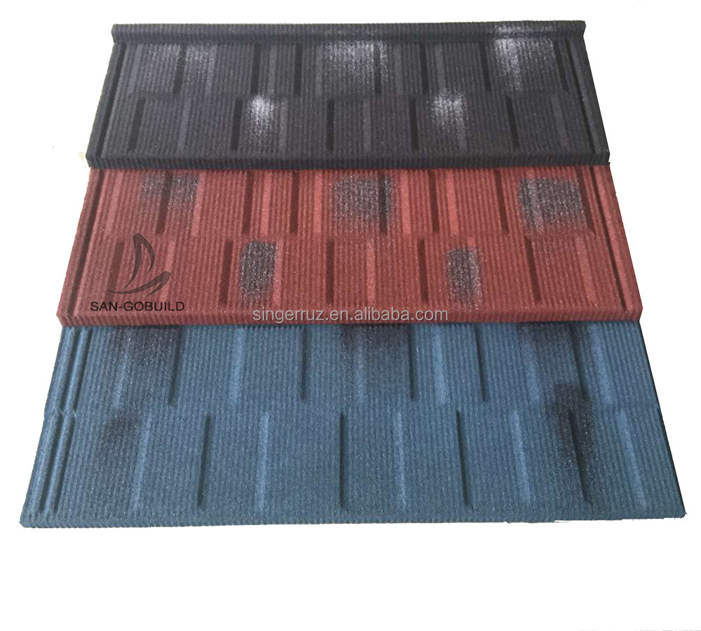 Kenya Soncap COC Residential Durable Building Roofing materials stone coated roof tiles types roofing materials