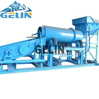 Large capacity 200 tons per hour dirty stone mining washing machine rotary trommel scrubber