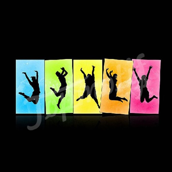 Neon Colorful PU Vinyl Dance Transfers Motif For DIY Tshirts