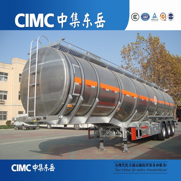 CIMC China Manufacturer Aluminum Round Truck Water/Fuel Tank Trailer