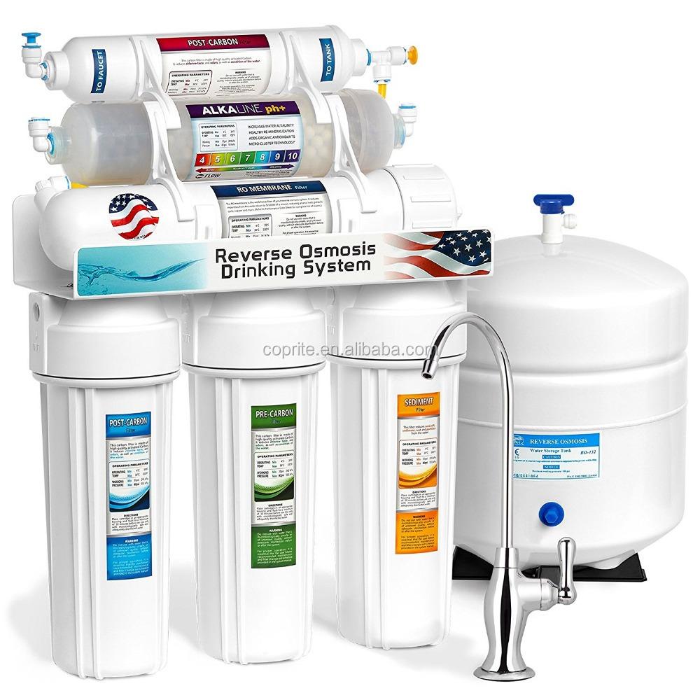 Universal Osmose Inverse Eau Potable systèmes de noix de coco Carbone Bloc Filtre 1 μm