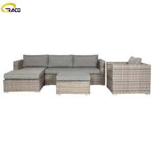 Competitive price outdoor furniture artificial rattan garden sofa set