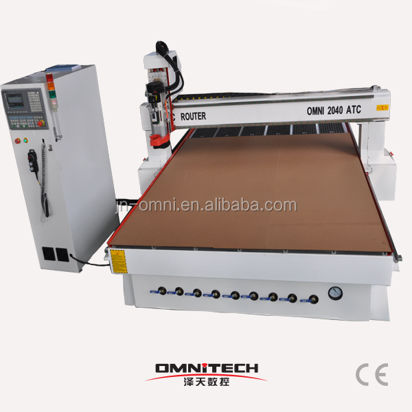 One time finish Milling Engraving Cutting no need operator atc 2040 cnc router