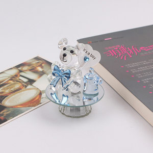Cute glass heart bear personalized birthday crystal souvenir gifts