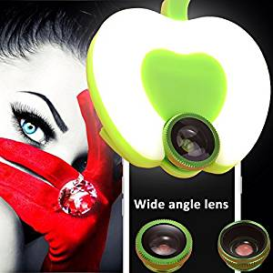 AMENON Selfie Ring Light Clip-On Cell Phone Wide Lens Kits,Phone holder,Rechargeable LED Face-lift for iphone , iPad, Android Smart Phones Mac Beauty Fill Light Photo Shoot 3 Brightness