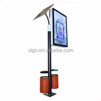 Outdoor Furniture Solar Static Lamp Post Light Box Advertising Display Buy Lamp Post Light Box Solar Light Pole Lightbox Outdoor Furniture Lamp Post