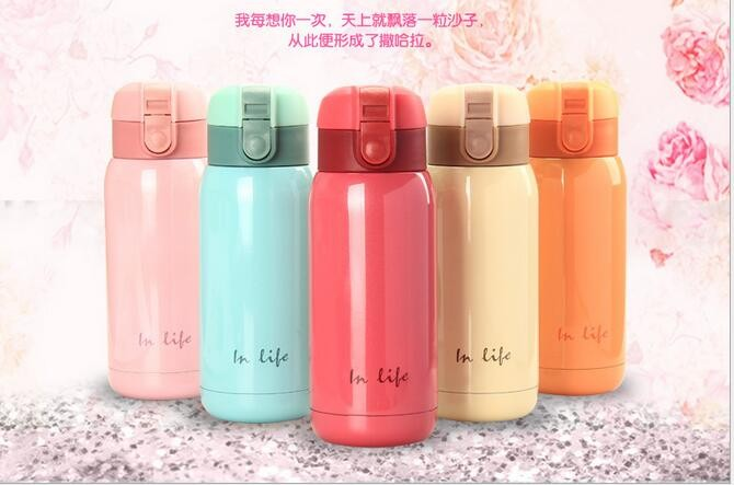 convenient cap design double wall vacuum bottles/stainless steel 304 insulated flask