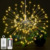 120 LED Bouquet Shape Firework Battery Operated Hanging Starburst Copper Light with Remote Control
