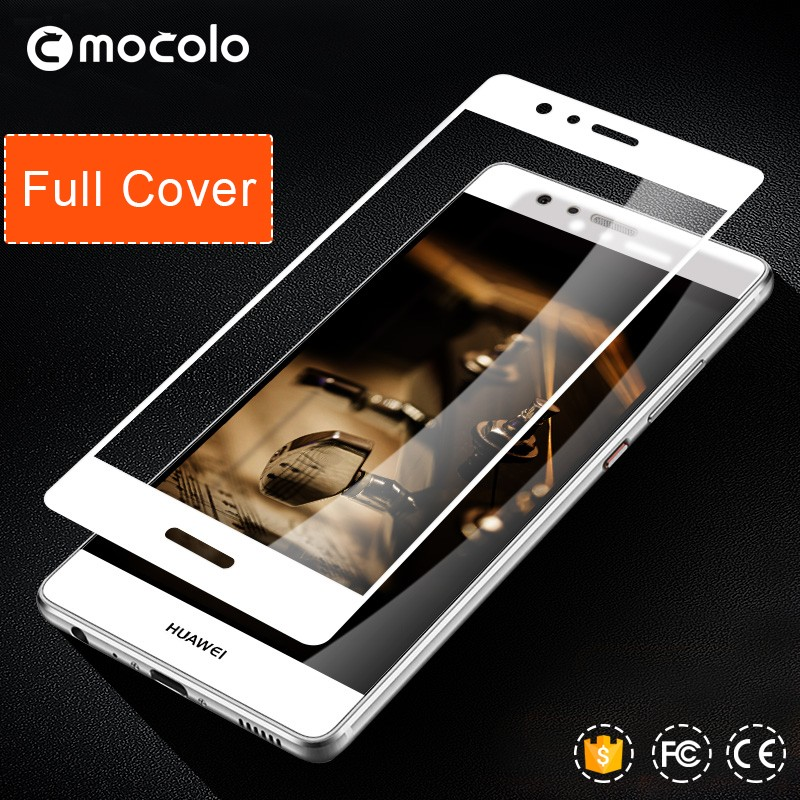 Mocolo new products 2016 for Huawei Ascend P9 Plus Anti-scratch shockproof glass black,white,gold color glass