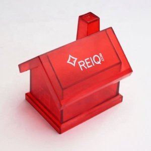 house shaped money box design,personalized red transparent money box,money storage box